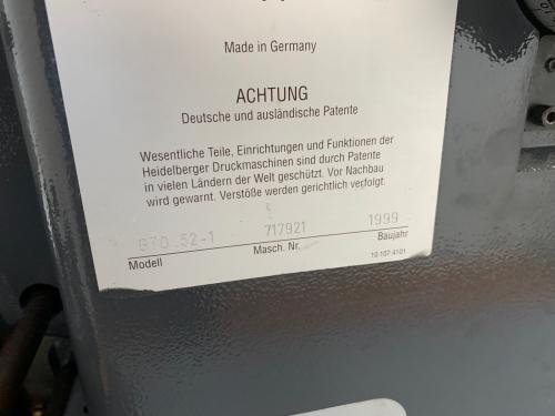 HEIDELBERG GTO 52-1 99'